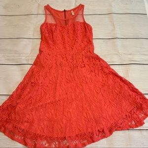 Xhilartion Coral Lace Dress Sz M *Perfect for Wed*